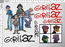 1set gorillaz virtual music band decal sticker print die-cut