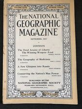 National Geographic Magazine September 1917, Geography Of Medicine, Man Power..