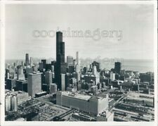 1979 Press Photo Downtown Chicago Skyline Skyscrapers 1970s