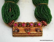 22k gold vintage antique collectible tribal old choker pendant necklace india