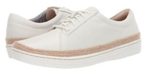 NEW CLARKS 3.5D MARIE MIST WHITE LOW TOP LEATHER TRAINER'S
