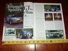 1964 1965 Triumph Spitfire Gt LeMans Race Car - Original 2000 Article
