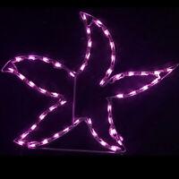 Tropical Summer Pool Yard Art Decoration LED Purple Starfish Lighted Display