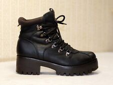 300$ TJ black lace up chunky sole ankle combat boots 40-39 us8.5-9 uk6-6.5 Guidi