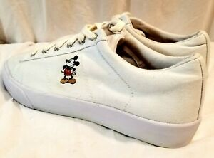 Disney Mickey Low Top Womens Shoes  Size 10 Item 57583 White