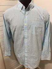 Izod Men's XL Button Down Long Sleeve Plaid Shirt Hiking  Outdoors Big Tall