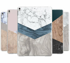 WOODEN MARBLE GEOMETRIC HARD BACK CASE COVER FOR APPLE IPAD MINI 1/2/3