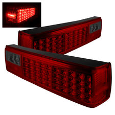 Ford 87-93 Mustang Red Smoked Rear Tail Lights Brake Lamps Left & Right Set