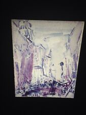 "John Marin ""Movement, 5th Avenue"" Watercolor Modern Art 35mm Glass Slide"
