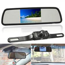 """12V Car Rear View Kit 4.3"""" LCD Mirror Monitor & 7 IR LED Reversing Backup Camera"""