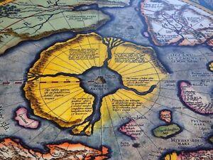 Flat Earth - G. Mercator 1623 North Pole - Septentrionalium Terrarum Descriptio