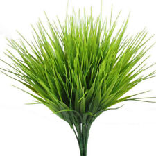 Artificial Green Grass Plastic Plants Fake Foliage Bush Office Home Garden Decor