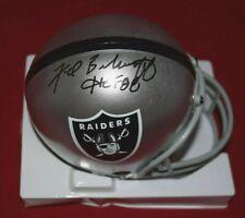Fred Biletnikoff - Signed Raiders Micro Helmet w/ HOF inscription - Autographed