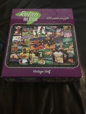 "Retro REMIX 550 Piece Jigsaw Puzzle - ""Vintage Golf"" New And Sealed"