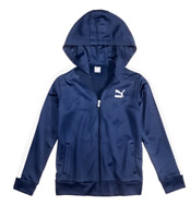 New Puma Boy's Zip Hoodie, Size M (10-12) - Blue - MSRP $44