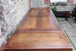 Outstanding 10.5 ft / 320 cm Antix Solid Oak French Farmhouse Refectory Table