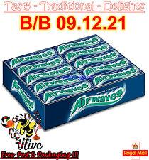 Full Box of 30 Wrigley's Airwaves Menthol & Eucalyptus Sugar Free Chewing Gum