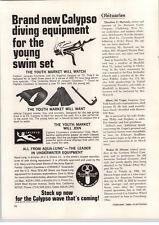 1968 PAPER AD Calypso Aqua Lung US Divers Company Jacques Cousteau