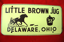 """""""Little Brown Jug"""" Novelty License Plate from Delaware OHIO, #53 Horse Racing"""