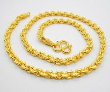 "9 MM Men's Chain Heavy 22K 24K Thai Gold Filled Yellow GP Necklace 28"" Jewelry"