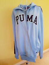 Unisex Puma Sports Jacket Light Blue Zip Front Side Pocket Size L(M) Xxl (F)