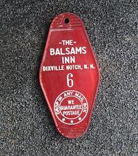 """VINTAGE BALSAMS GRAND RESORT HOTEL ROOM KEY TAG FOB """" BALSAMS INN """""""
