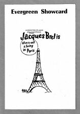 """Elly Stone """"JACQUES BREL IS ALIVE AND WELL"""" Mort Shuman / Eric Blau '68 Playbill"""