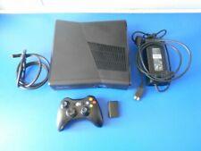 Xbox 360 S Slim Black Console + Genuine Black Controller Complete with HDMI PAL