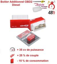 BOITIER ADDITIONNEL CHIP BOX PUCE OBD2 DIESEL PEUGEOT PARTNER 1.6 1L6 HDI 90 CV