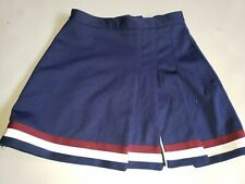 Varsity Blue and Maroon Cheerleader Uniform Skirt, Adult 7/14