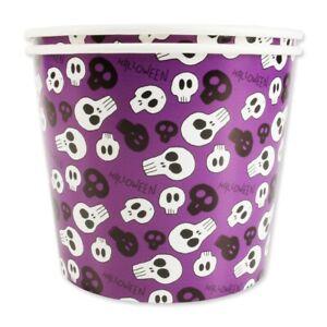 2x HALLOWEEN SWEET BUCKETS Large Treat Tub Popcorn Nuts Candy Jelly Ice Cream UK