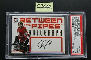 2006-07 In The Game - COREY CRAWFORD - Between The Pipes Auto - PSA 9 (C2662