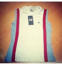 Lacoste sleeveless top polo size 40 New