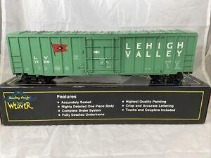 Weaver Lehigh Valley 50' Plug Door Box Car #7189 3 Rail With Box