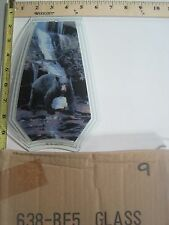 FREE US SHIP OK Touch Lamp Replacement Glass Panel Black Bear Waterfall 638-BE5