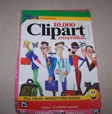 Lot Of 2 Clipart 10,000 Essential Images & Draw 3 Pc Cd Rom New