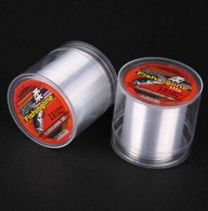 Fishing Line Tackle Fluorocarbon Super Strong Japanese 500M Nylon Transparent