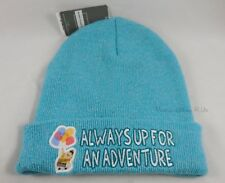 New Disney Up For Adventure Balloons Embroidered Teal Knit Beanie Hat Ski Cap