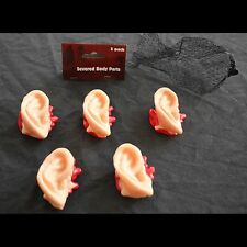 Walking Dead Bloody Body Parts-HUMAN SEVERED EARS-Zombie Hunter Horror Props-5pc