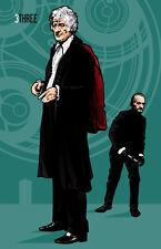 Doctor Who | Fan Art | Jon Pertwee and The Master | 17 x 11 Digital Print