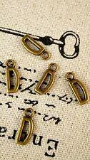 Alphabet letter D charm bronze vintage style jewellery supplies C32