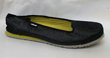 Teva Mush 4331 Shoe Ballet Flats Slip On Black Silver Womens 10 M Casual Slip On
