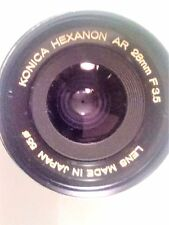 KONICA HEXANON Wide angle Lens AR 28mm F3.5 Case and Cap