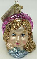 Old World Christmas Glass Ornament Angel Girl Face Heavenly Religious 10138