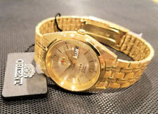 Orient Dress Watch Automatic Gold Numeric Gold Dial Watch FREE US SHIP