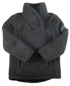 Girls The North Face Jacket Campshire Pullover Sherpa Fleece Soft Black XXS 5