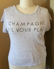 "FOREVER 21 PLUS (2X) GRAY ""CHAMPAGNE SIL VOUS PLAIT"" KNIT TOP"