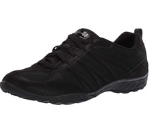 Skechers Breathe Easy Women Bungee Slip On Athletic Shoes Be Relaxed Black