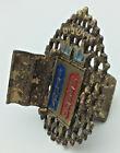 Vintage Mezuza Judaica 10 Comm. Star Of David Ark Doors Hebrew Jerusalem Israel