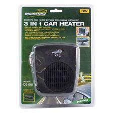 In car dash heater ICE DEMISTER 12v van de ice DELUX 3in1 fan windscreen window